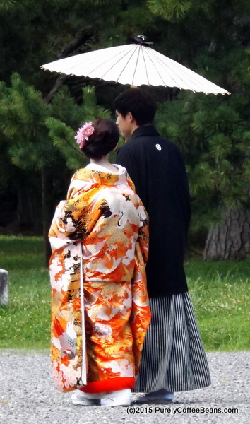Japanese Couple in Kyoto
